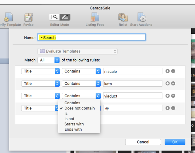 """Smart Groups Title and all text fields do not have """"Does not contain"""" option GS6"""