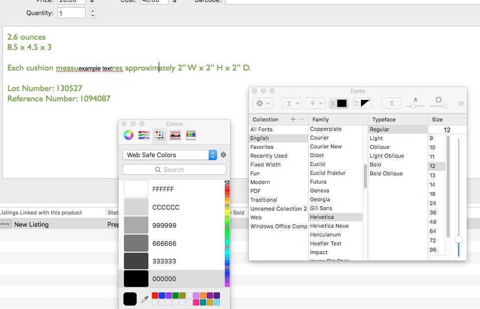 Bug [v7 0 (771)]: Inventory description window & fonts