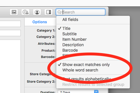 Search field popup menu save state and Ignore Deleted Listings 2