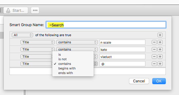 """Smart Groups Title and all text fields do not have """"Does not contain"""" option GS7"""